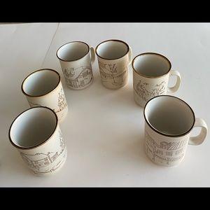 Collector Manoir Stoneware lot of 6 coffee mugs